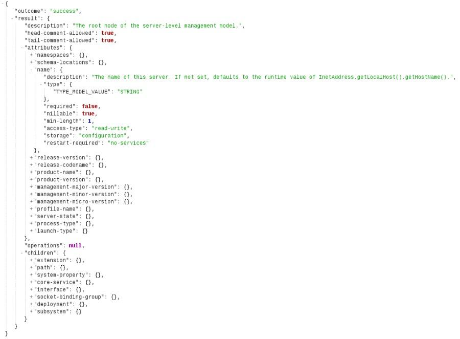 JSON output