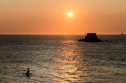 Sunset At Saint-Malo